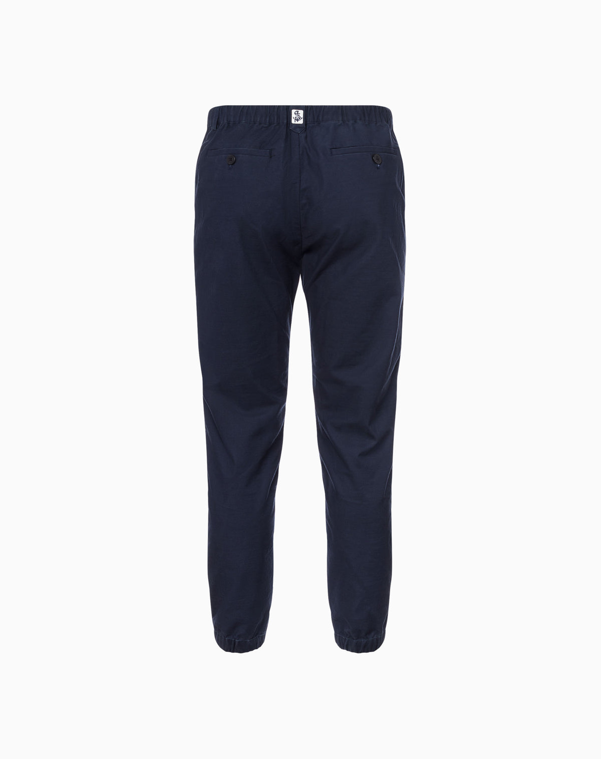Deck Jogger in Navy Cotton Canvas