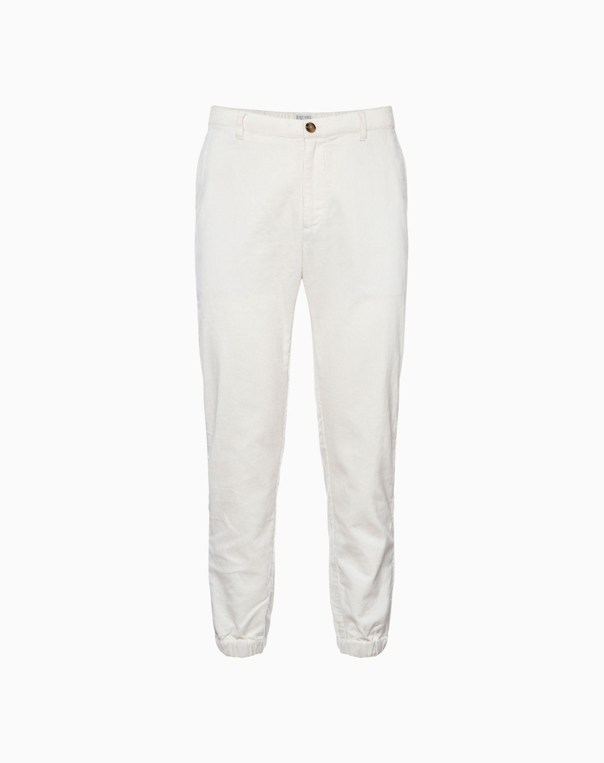 Deck Jogger in White Corduroy
