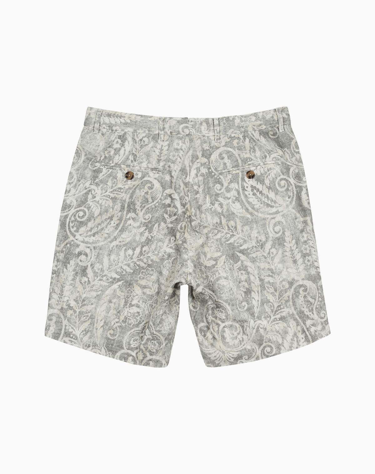 Printed Short in Pewter Floral