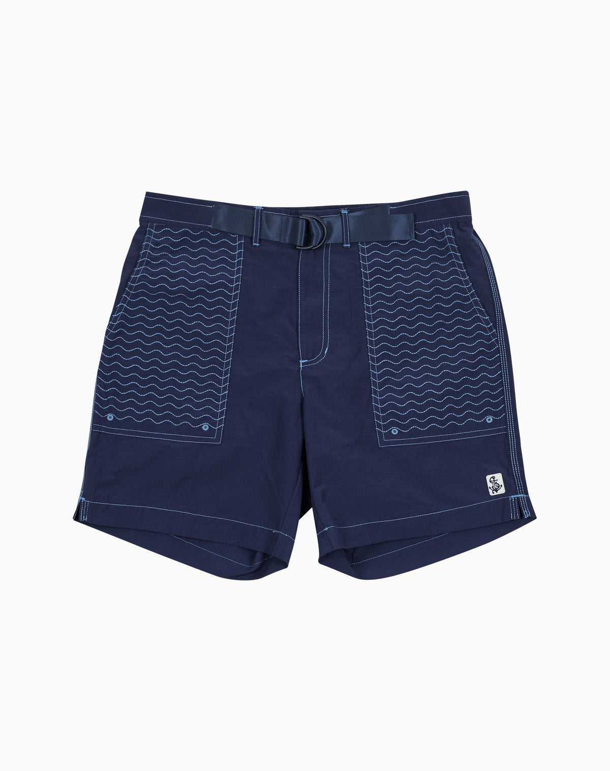 Wavy Utility Trunk in Navy