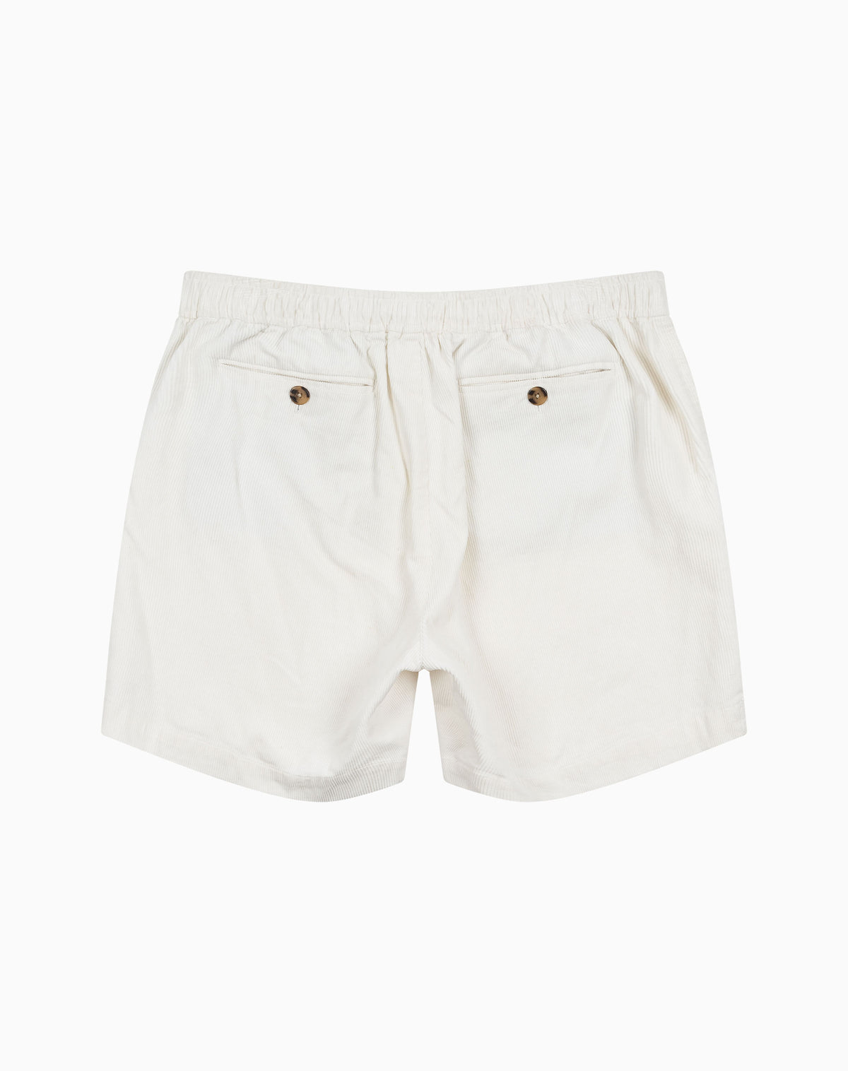 Utility Short in White Corduroy