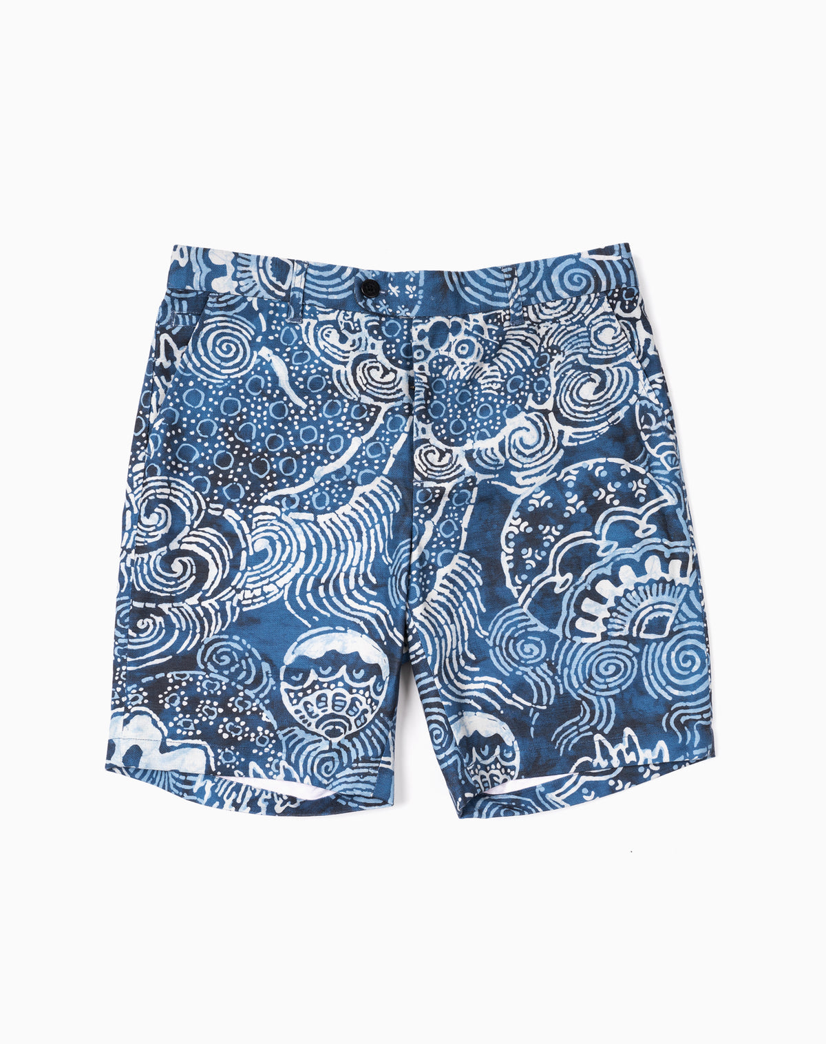Printed Short in Indigo Bohai