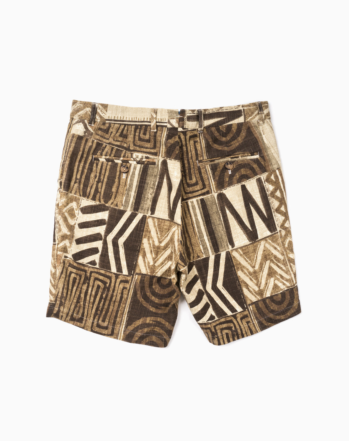 Printed Short in Tribal Patchwork