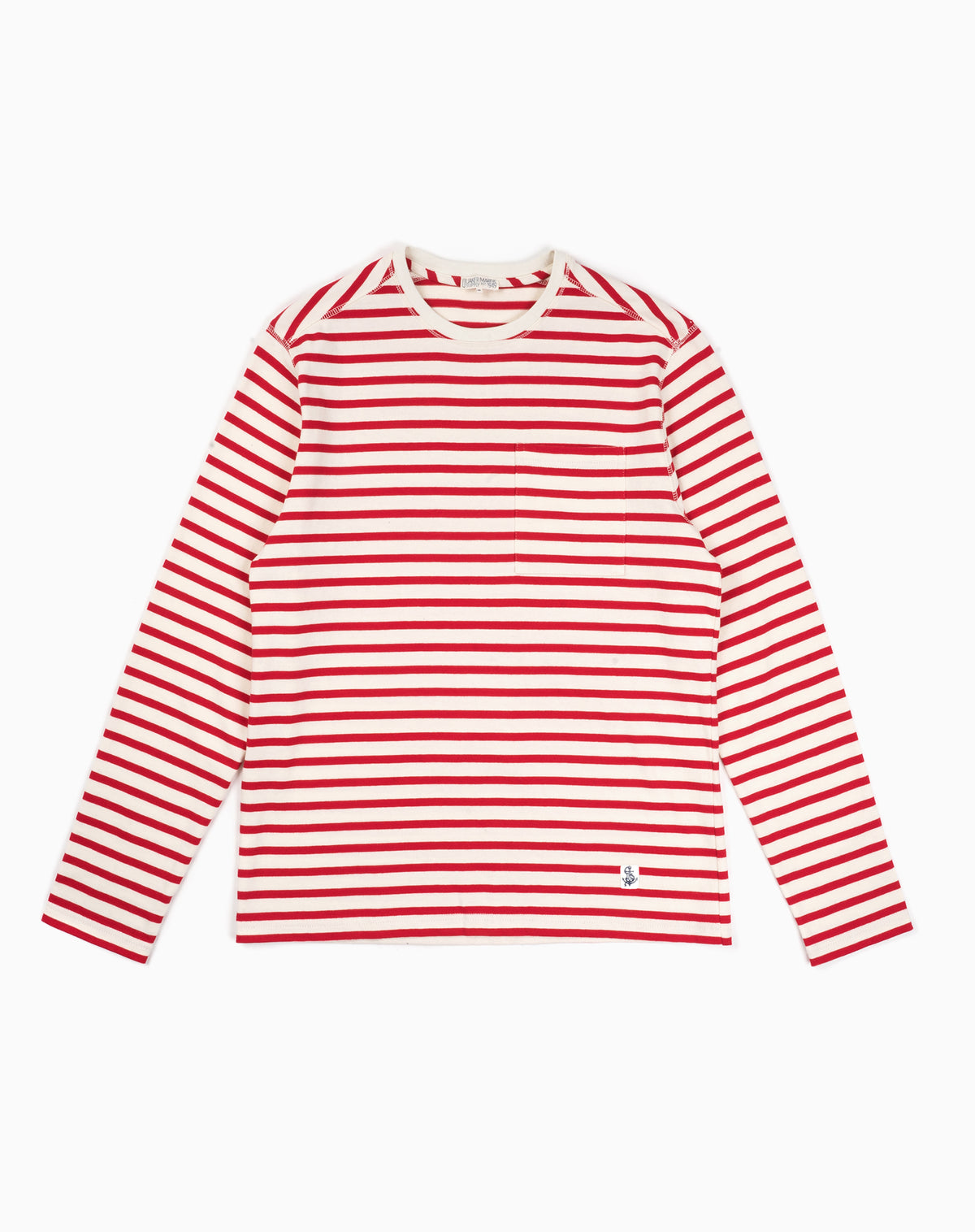 Mariner Knit Shirt in Red/Cream