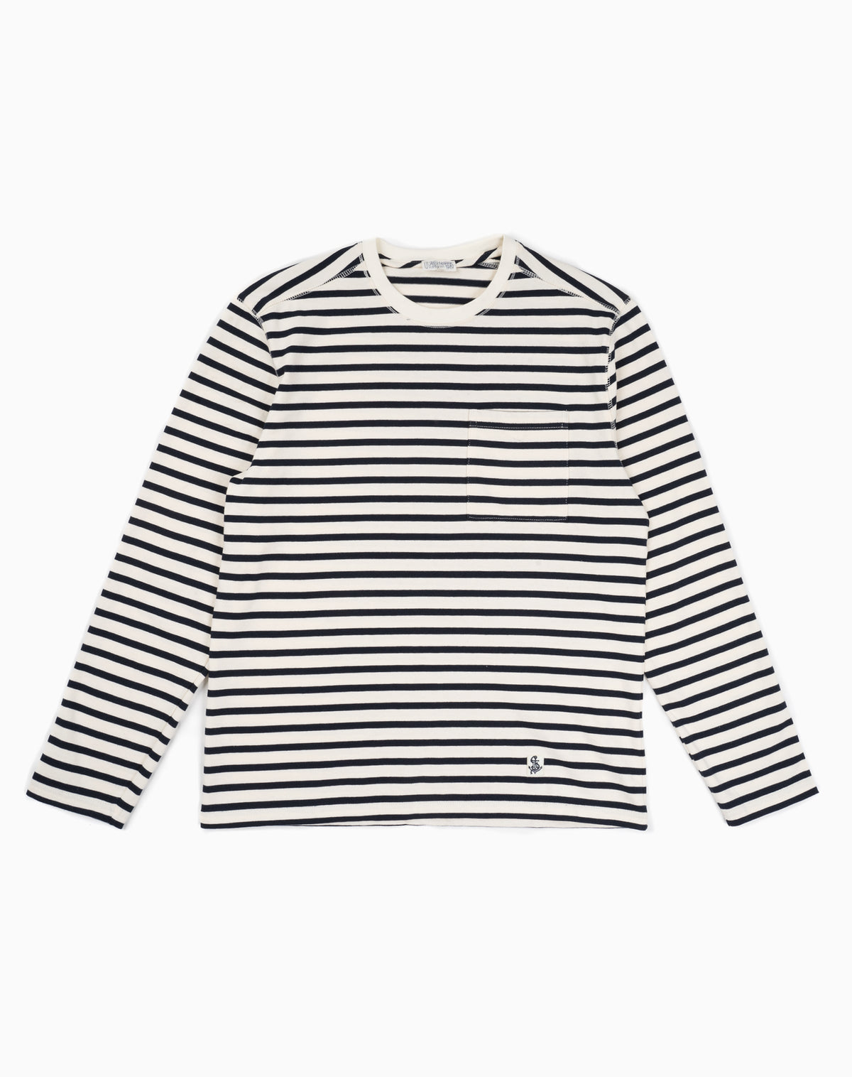 Mariner Knit Shirt in Navy/Cream