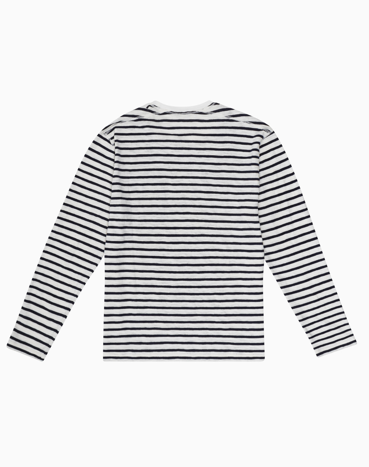 Long Sleeve Striper in Navy & White