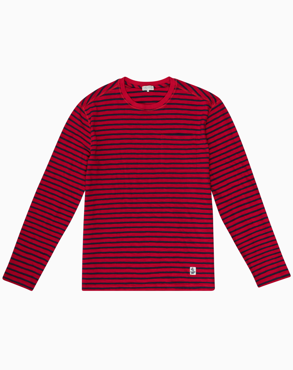 Long Sleeve Striper in Red & Navy