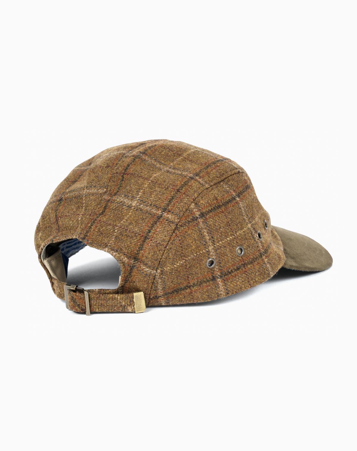 Swordfish in Plaid Wool with Suede Brim
