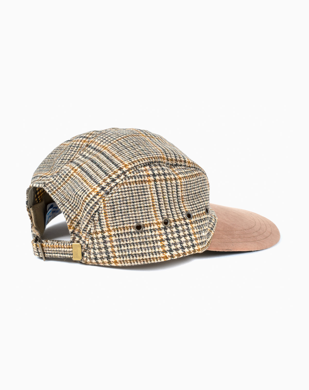 Swordfish in Brown Houndstooth Wool with Suede Brim