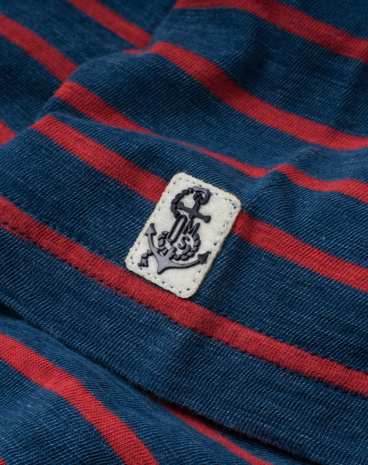 Indigo Pocket Tee in Red/Navy Stripe