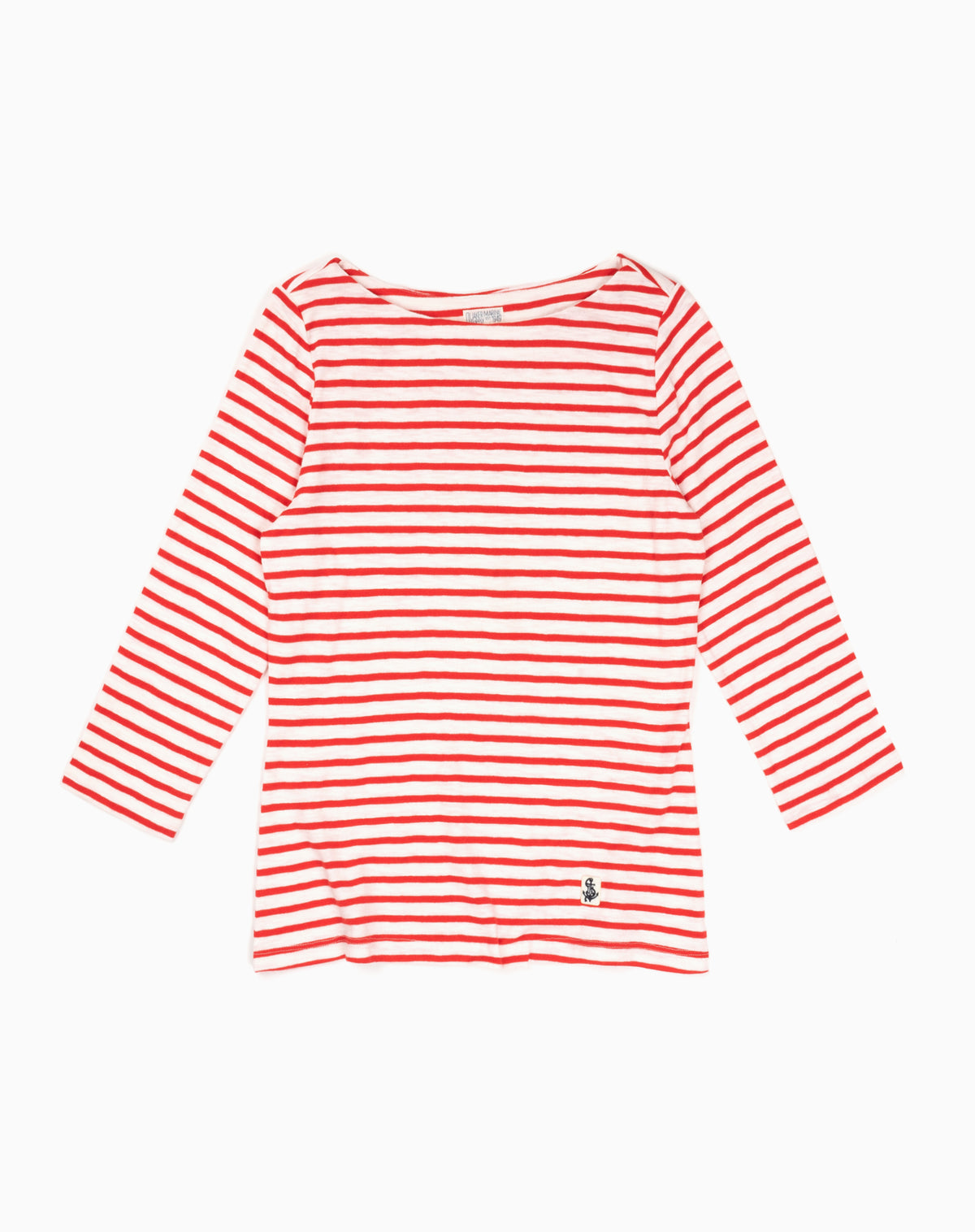 Women's French Sailor Tee in Red/White Stripe