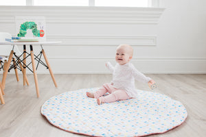 Play Mat - Coral & Colourful Shapes (Double-Sided)