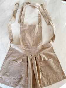 Toddler Apron - Cream Linen