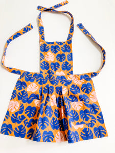 Toddler Apron - Blue Leaf