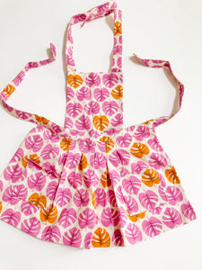 Toddler Apron - Pink Leaf