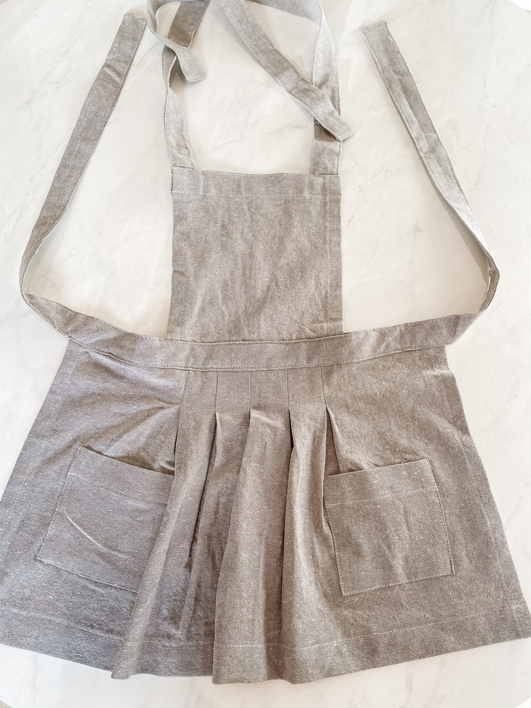 Toddler Apron - Grey Linen