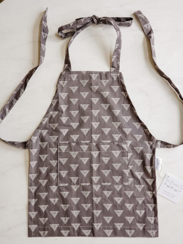 Toddler Apron - Grey and White