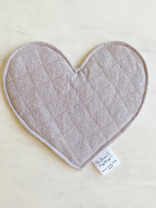 Crinkle Heart - Lilac Linen
