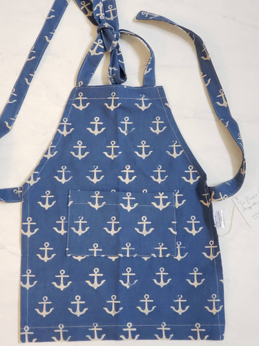 Toddler Apron - Anchors Canvas
