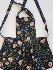 Toddler Apron - Dark Floral Canvas