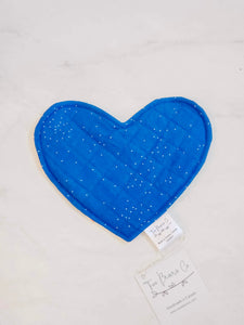Crinkle Heart - Stars & Navy Speckles Crinkle (Double-Sided)