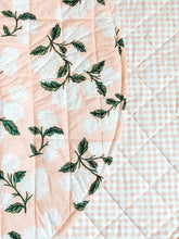 Load image into Gallery viewer, Play Mat - Blush Hydrangea & Gingham