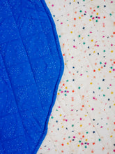 Load image into Gallery viewer, Play Mat - Stars & Navy Speckles (Double-Sided)