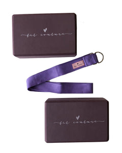 Yoga Blocks & Strap Set - Fit Couture Collection
