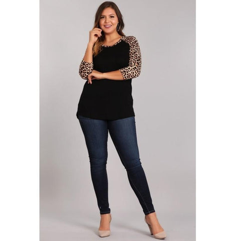 Leopard Baseball Top