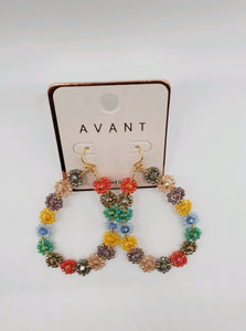 Multi Colored Flower Earrings