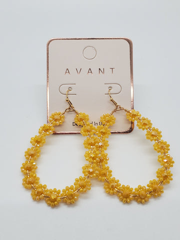 Yellow Flower Earrings