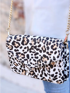 Leopard Crossbag With Chain Strap