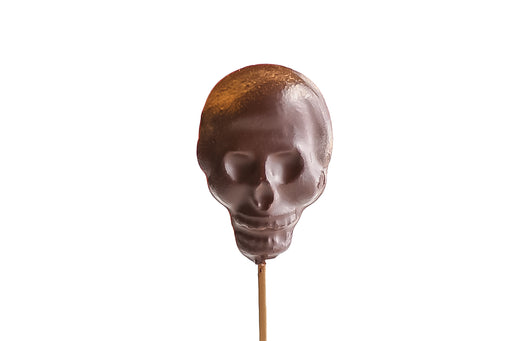 Chocolate Skull Lollipops