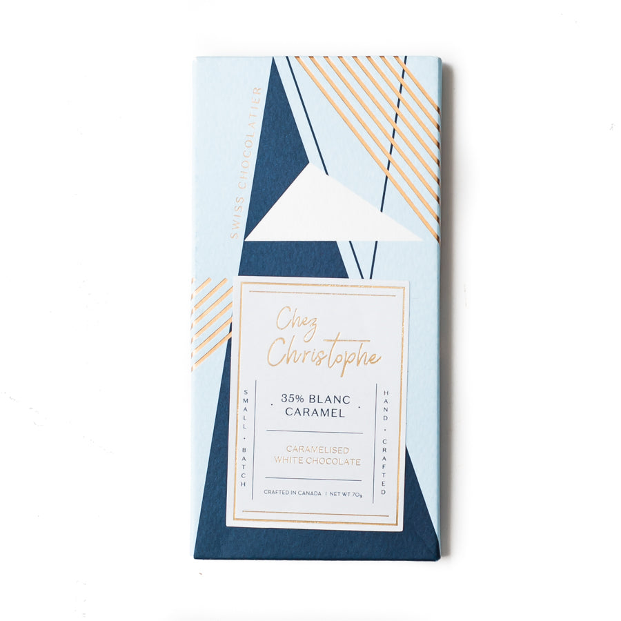 35% Blanc Caramel Handcrafted Chocolate Bar