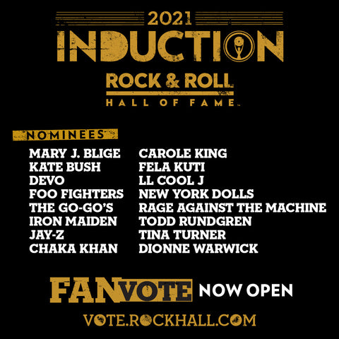 Rock and Roll Hall of Fame 2021 Nominees