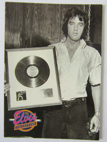 Elvis trading card with RIAA award