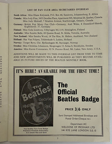 The Beatles Book sample ad