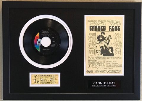 Canned Heat ticket collage