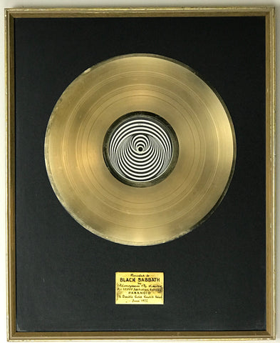 Black Sabbath Australian record award