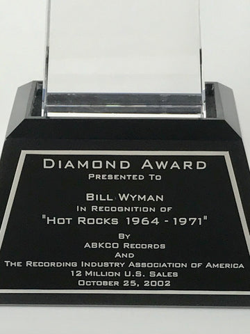 RIAA Diamond Award presentation plate detail