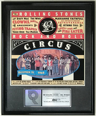 Rolling Stones Rock N Roll Circus RIAA Video Award