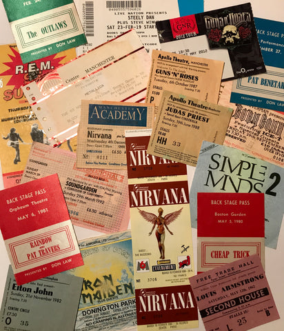 Collectible concert tickets