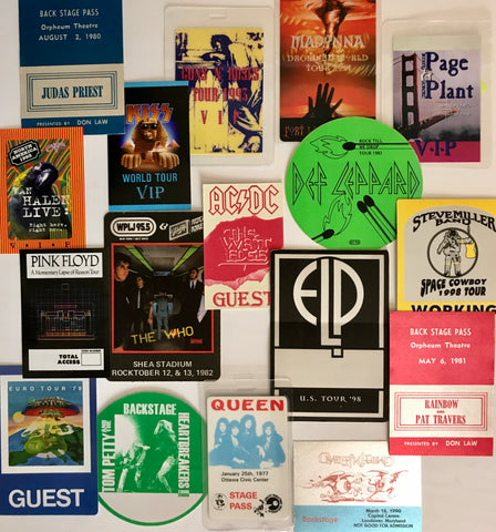 Backstage passes array