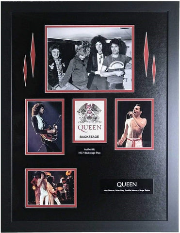 Queen 1977 backstage pass collage