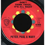 45 Purse - 60s Pop - Peter Paul & Mary Dont Think Twice Its All Right