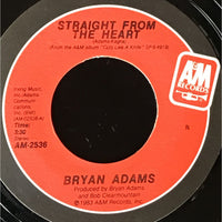 45 Purse - 80s Pop A-B - Bryan Adams Straight From The Heart red label