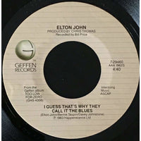 45 Purse - 80s Pop I-K - Elton John I Guess Thats Why They Call It The Blues