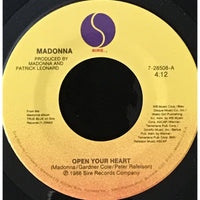45 Purse - 80s Pop L-Q - Madonna Open Your Heart