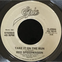 45 Purse - 80s Pop R-S - REO Speedwagon Take It On The Run (grey label)