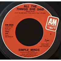 45 Purse - 80s Pop R-S - Simple Minds All The Things She Said